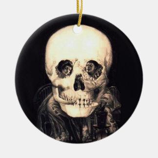 Skull Illusion Ceramic Ornament