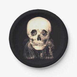 Skull Illusion Paper Plate