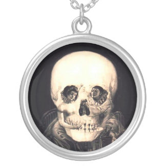 Skull Illusion Silver Plated Necklace
