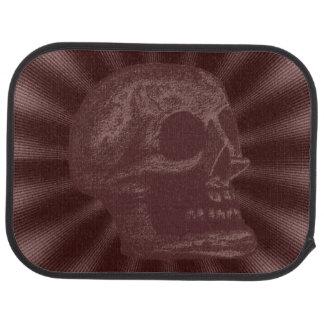 Skull- Illustrated Skull! Deep Red Car Mat