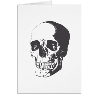 Skull illustration card