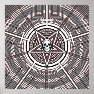 Skull in a Pentagram Poster