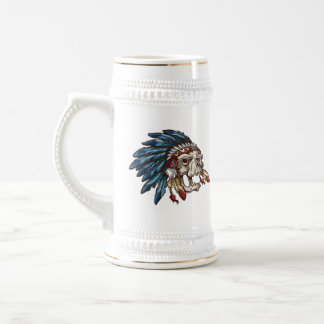 Skull in Head Dress Stein