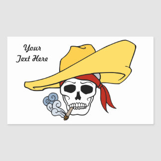Skull in Sombrero Sticker