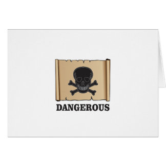 skull in the black frame card