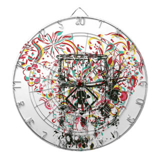 skull in the glass, vintage heart dartboard