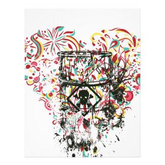 skull in the glass, vintage heart letterhead