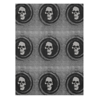 skull in the whirl tablecloth