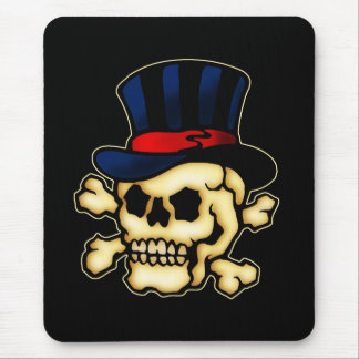 Skull in Top Hat Mouse Pad