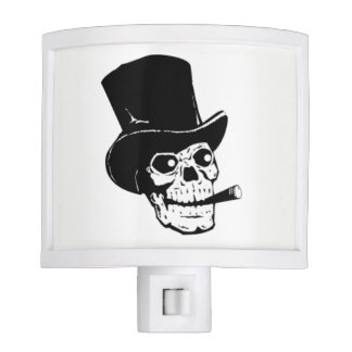 Skull in Top Hat Night Light