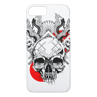 Skull iPhone 7, Barely There Case - Flames 1