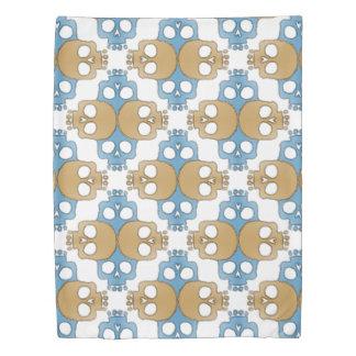 Skull Jigsaw Multi color Duvet Cover