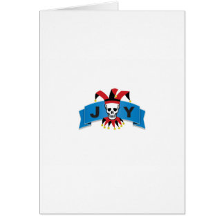 skull joy of banner card