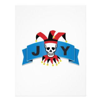skull joy of banner customized letterhead