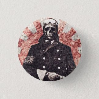 Skull kamikaze 1 inch round button