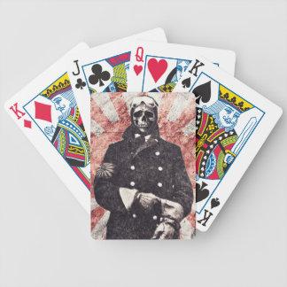 Skull kamikaze bicycle playing cards