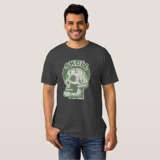 SKULL Keyhole -Faded Pine Green Distressed Logo Tee Shirts
