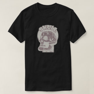 SKULL Keyhole -Faded Rust Red Distressed Logo Look Shirts