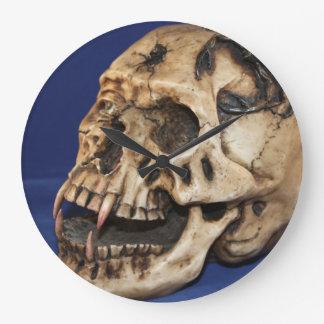 Skull Large Round Wall Clock
