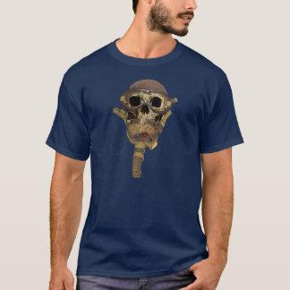 Skull leather helmet T-Shirt