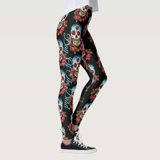 Skull LEGGINGS Day of the Dead Yoga Running Pants