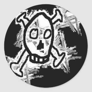 Skull Logo Round Sticker