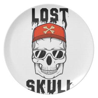 SKULL Lost Skull Party Plate