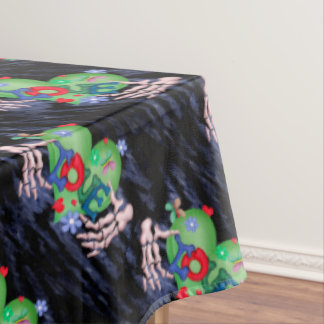 "SKULL LOVE 2 Tablecloth COLOR LIPS 60""x104"""