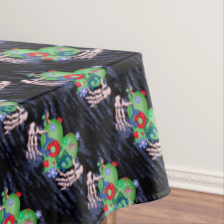 "SKULL LOVE 2 Tablecloth COLOR LIPS 60""x84"""