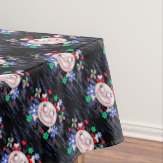 "SKULL LOVE Tablecloth COLOR LIPS 52""x70"""