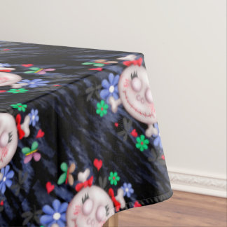 "SKULL LOVE Tablecloth COLOR LIPS 60""x104"""