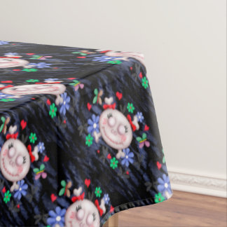 "SKULL LOVE Tablecloth COLOR LIPS 60""x84"""