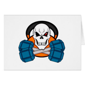 Skull love's weights card