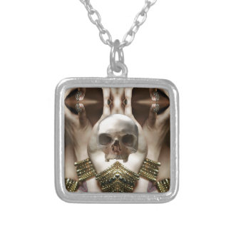 Skull Magic Silver Plated Necklace