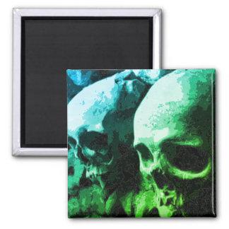 Skull Magnet Blue/Green