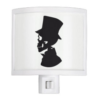 Skull Man Silhouette Night Light