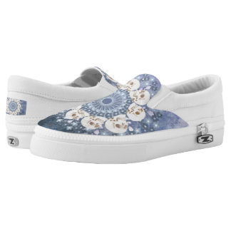 Skull Mandala Slip-On Sneakers