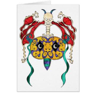 Skull Mask Card