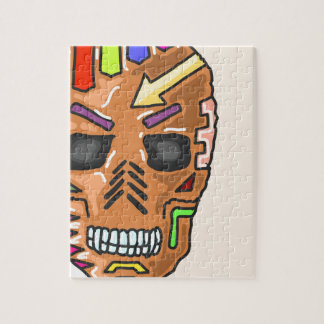 Skull Mask Painted Sketch Jigsaw Puzzle