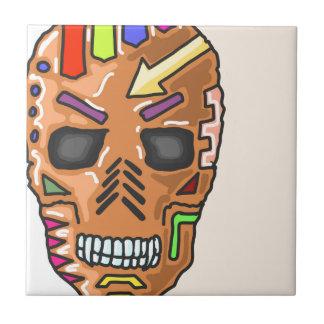 Skull Mask Painted Sketch Tile
