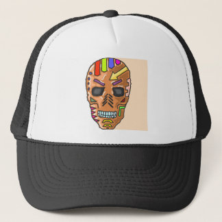 Skull Mask Painted Sketch Trucker Hat