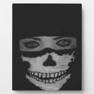 Skull Mask Plaque
