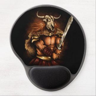 Skull Mask Viking Warrior Gel Mousepad