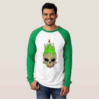 Skull Men's Canvas Long Sleeve Raglan T-Shirt