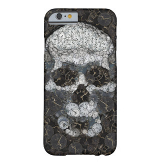 Skull mosaic made of clocks barely there iPhone 6 case