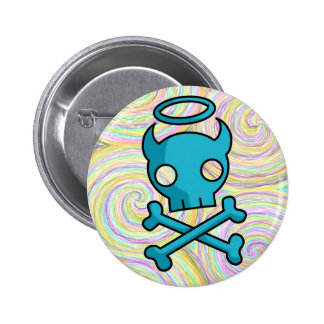 Skull Muffin Factory Swirled Button
