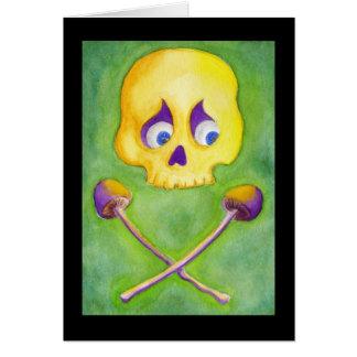 Skull & Mushrooms Card