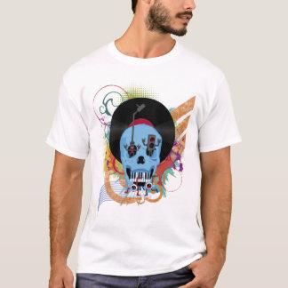 Skull Music Grunge Splatter T-Shirt