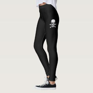 Skull n Bones Black skull black leggings