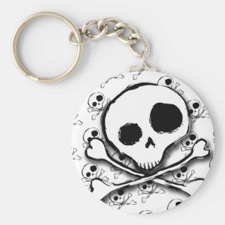 Skull N Bones with backdrop Keychain